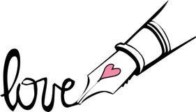 Penna di amore Fotografia Stock Libera da Diritti
