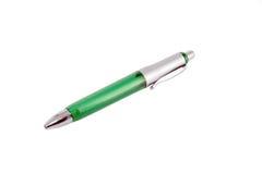 Penna di ball-point verde Fotografia Stock Libera da Diritti