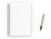 Penna di ballpoint e del taccuino illustrazione di stock