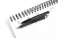 Penna di ballpoint nera Fotografia Stock Libera da Diritti