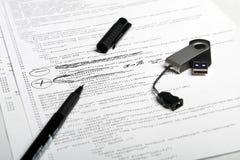 Penna di codice di Web & flash 5 Fotografie Stock Libere da Diritti