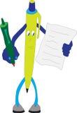 Penna di colore illustrazione di stock