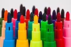 Penna di colore su fondo bianco Immagine Stock Libera da Diritti
