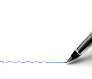 Penna di fontana Fotografie Stock Libere da Diritti