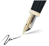 Penna di fontana Immagini Stock Libere da Diritti