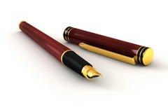Penna di fontana rossa Fotografie Stock
