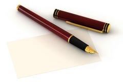 Penna di fontana rossa illustrazione di stock