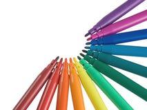 Penna di indicatore colorata Fotografia Stock Libera da Diritti