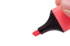 Penna di indicatore della holding della mano immagine stock libera da diritti