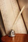 Penna di spoletta Immagini Stock