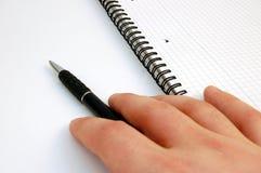 Penna di tenuta Immagine Stock Libera da Diritti