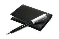 Penna e blocchetto per appunti Immagine Stock Libera da Diritti