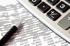 Calcoli, concetto di contabilità fotografie stock