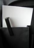 Penna e carta Immagini Stock