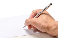 Penna e carta con Copyspace Fotografia Stock