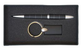 Penna e catena chiave immagini stock