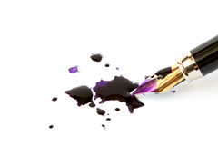 Penna e chiazze immagine stock
