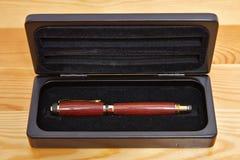 Penna e custodia per armi della penna Fotografie Stock Libere da Diritti