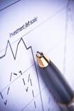 Penna e diagramm Immagini Stock Libere da Diritti