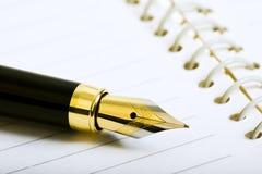 Penna e diario Fotografia Stock
