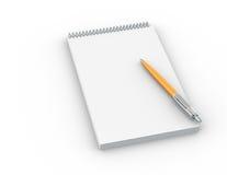 Penna e documento illustrazione vettoriale