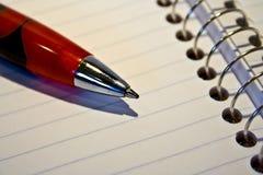Penna e documento Fotografie Stock