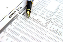 Penna e finanze Immagine Stock Libera da Diritti