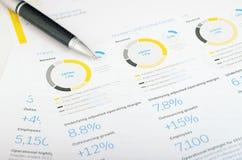 Penna e grafico Immagine Stock Libera da Diritti