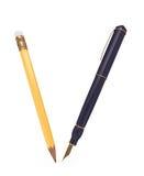 Penna e matita Immagine Stock