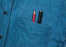 Penna e matita Fotografie Stock Libere da Diritti
