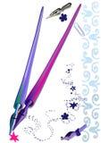 Penna e punto sul carrello dello sketchbook Fotografia Stock Libera da Diritti