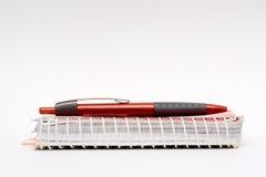 Penna e taccuino Fotografie Stock