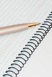 Penna e taccuino Immagini Stock Libere da Diritti