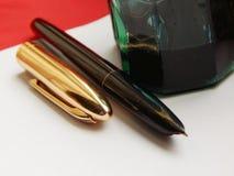A penna ed inchiostro Fotografie Stock Libere da Diritti