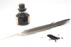 A penna ed inchiostro Fotografia Stock Libera da Diritti