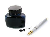 A penna ed inchiostro Fotografie Stock