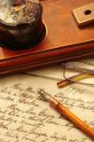 A penna ed inchiostro Immagine Stock