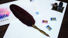 A penna ed inchiostro Immagini Stock Libere da Diritti