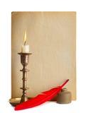 A penna ed inchiostro rosso Fotografia Stock Libera da Diritti