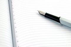 Penna ed ordine del giorno Fotografia Stock Libera da Diritti