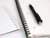 penna för 3 anteckningsböcker royaltyfria bilder