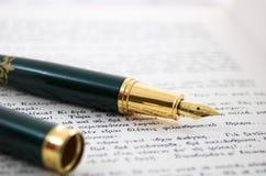 penna för 3 antikvitet Arkivfoto