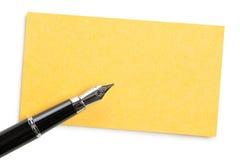 penna för affärskort royaltyfri fotografi