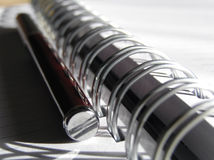 penna för anmärkning för bok 5 Royaltyfri Bild