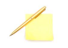 penna för anmärkningspapper Royaltyfria Foton