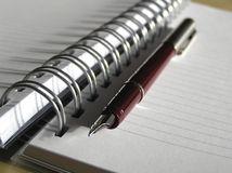 penna för bokanmärkning Arkivfoton