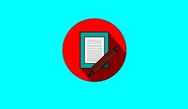 penna för bokbegreppsbildande Royaltyfria Foton