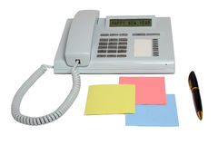 Penna för lyckligt nytt år för telefon och färgat papper Fotografering för Bildbyråer