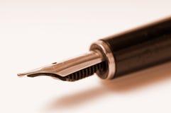 penna för springbrunnbildmakro Fotografering för Bildbyråer