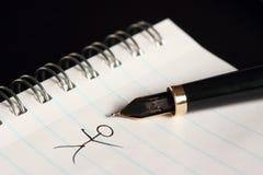 penna för springbrunnblockpapper Royaltyfri Bild